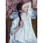 Puzzle  Grafika-01928 Mary Cassatt : Jeune Fille Coiffant ses Cheveux, 1886
