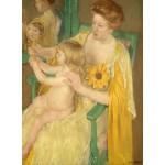 Puzzle  Grafika-01934 Mary Cassatt : Mère et Enfant, 1905