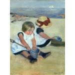 Puzzle  Grafika-01937 Mary Cassatt : Enfants jouant à la Plage, 1884