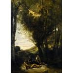 Puzzle  Grafika-01943 Jean-Baptiste-Camille Corot : Saint Sebastian Succored by the Holy Women, 1874