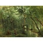 Puzzle  Grafika-01945 Jean-Baptiste-Camille Corot : Les Ramasseurs d'Anguille, 1860-1865