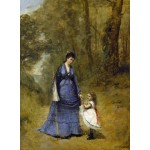 Puzzle  Grafika-01948 Jean-Baptiste-Camille Corot : Madame Stumpf et sa fille, 1872