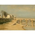 Puzzle  Grafika-01951 Jean-Baptiste-Camille Corot : Pont sur la Saône à Mâcon, 1834