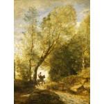 Puzzle  Grafika-01956 Jean-Baptiste-Camille Corot : La Forêt de Coubron, 1872