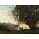 Puzzle  Grafika-01965 Jean-Baptiste-Camille Corot : Danse sous les Arbres au Bord du Lac, 1865-1870