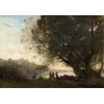 Puzzle  Grafika-01966 Jean-Baptiste-Camille Corot : Danse sous les Arbres au Bord du Lac, 1865-1870
