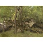 Puzzle  Grafika-01971 Jean-Baptiste-Camille Corot : Rochers en Forêt de Fontainebleau, 1860-1865