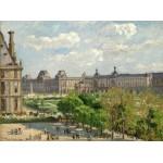Puzzle  Grafika-02012 Camille Pissarro : Place du Carrousel, Paris, 1900