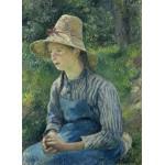 Puzzle  Grafika-02032 Camille Pissarro : Jeune Paysanne avec un Chapeau de Paille, 1881
