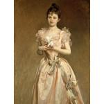 Puzzle  Grafika-02066 John Singer Sargent : Miss Grace Woodhouse, 1890