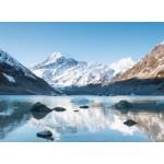 Puzzle  Grafika-02086 Réflexion sur le Mont Cook dans Hooker Lake, Parc national Aoraki, Nouvelle-Zélande