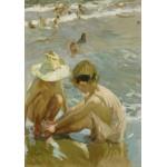 Puzzle  Grafika-02114 Joaquin Sorolla y Bastida : Le Pied Blessé, 1909