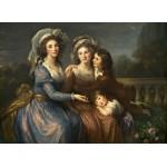 Puzzle  Grafika-02171 Louise-Élisabeth Vigee le Brun : La Marquise de Pezay et la Marquise de Rougé avec ses fils Alexis e