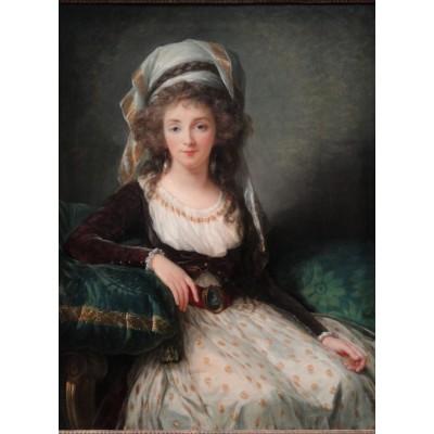 Puzzle Grafika-02191 Louise-Élisabeth Vigee le Brun : Madame d'Aguesseau de Fresnes, 1789