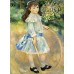 Puzzle   Auguste Renoir : Fillette au cerceau, 1885