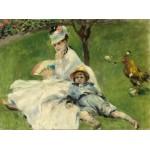 Puzzle   Auguste Renoir : Madame Monet et son Fils, 1874