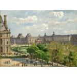 Puzzle   Camille Pissarro : Place du Carrousel, Paris, 1900
