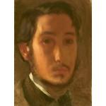 Puzzle   Edgar Degas : Autoportrait avec Col Blanc, 1857