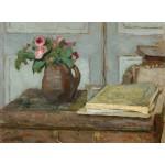 Puzzle   Edouard Vuillard : La palette de l'Artiste et un Vase avec des Roses, 1898