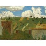 Puzzle   Edouard Vuillard : Paysage d'Ile de France, 1894