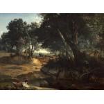 Puzzle   Jean-Baptiste-Camille Corot : Forêt de Fontainebleau, 1834