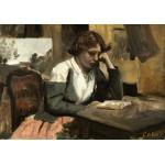 Puzzle   Jean-Baptiste-Camille Corot : Lecture de Jeune Fille, 1868