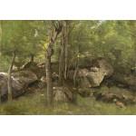 Puzzle   Jean-Baptiste-Camille Corot : Rochers en Forêt de Fontainebleau, 1860-1865