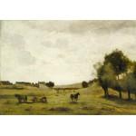 Puzzle   Jean-Baptiste-Camille Corot : Vue près d'Epernon, 1850-1860