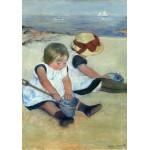 Puzzle   Mary Cassatt : Enfants jouant à la Plage, 1884