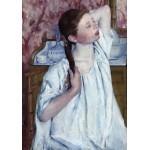 Puzzle   Mary Cassatt : Jeune Fille Coiffant ses Cheveux, 1886