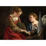 Puzzle   Orazio Gentileschi et Giovanni Lanfranco : Sainte Cecilia et un Ange, 1617/1618