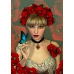 Puzzle  Grafika-T-00092 La Femme et le Papillon