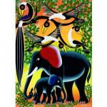 Puzzle  Heye-29458 Tinga tinga : Famille éléphant