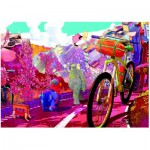 Puzzle  Heye-29677 The Ride Journal : Tour in Pink