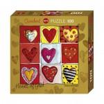 Puzzle  Heye-70858-29765 Stefanie Steinmayer - Hearts of Gold - All the 9