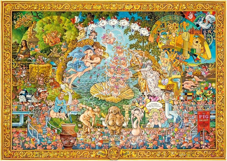 puzzle michael ryba le cochon dans l 39 art heye 29637 4000 pi ces puzzles art planet 39 puzzles. Black Bedroom Furniture Sets. Home Design Ideas