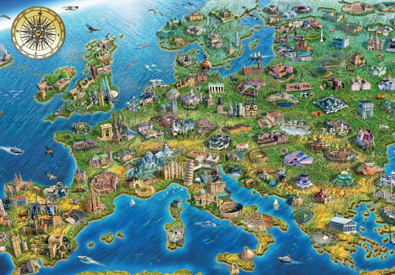 Puzzle Carte De L Europe Jumbo 18321 1000 Pi 232 Ces Puzzles Cartes Du Monde Et Mappemonde