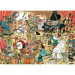 Puzzle  Jumbo-17160 Jan Van Haasteren : Les artistes