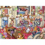 Puzzle  Jumbo-17406 Wasgij Mystery 10 - La Fièvre du Printemps