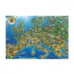 Puzzle  Jumbo-18337 Carte de l'Europe
