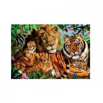 Puzzle  Jumbo-18338 Chats Sauvages !