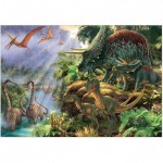 Puzzle  Jumbo-18378 Vallée des Dinosaures