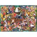 Puzzle  Jumbo-18568 Le Règne Animal