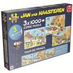 Jumbo-19019 3 Puzzles - Jan van Haasteren: Tour de France
