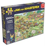 Puzzle  Jumbo-19021 Jan Van Haasteren - Course de Tondeuses
