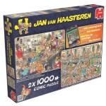 Jumbo-19024 2 Puzzles - Jan Van Haasteren - Réveillon du Nouvel An