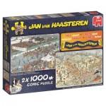 Jumbo-19035 2 Puzzles - Jan van Haasteren