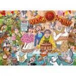 Puzzle  Jumbo-19116 Wasgij Original 23 - Extension -  The Bake Off... Continued