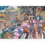Puzzle  Jumbo-19125 Wasgij Destiny 16: Les Rockers Préhistoriques !