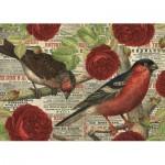 Puzzle   Les Oiseaux aiment les Fleurs